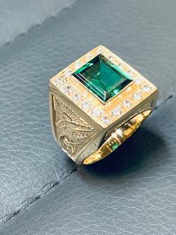 SFJ Men's Emerald Ring