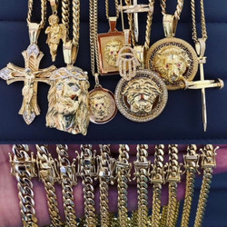 14 Kt. Gold Chains and SFJ Pendant Designs