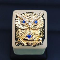 SFJ Sapphire Diamond Owl Ring