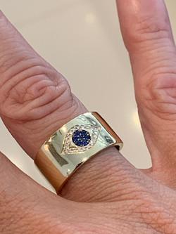 Sapphire and Diamond Evil Eye Design