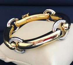 18 kt Gold Diamond Bracelet