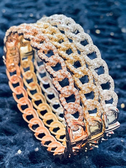 Diamond Link Bangles