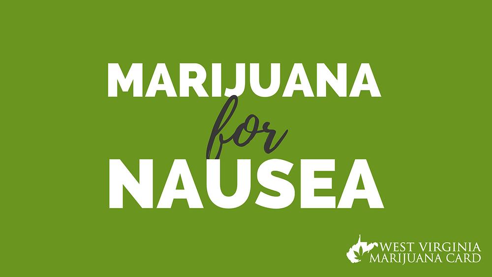 medical marijuana for nausea