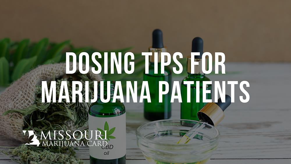 dosing tips for medical marijuana