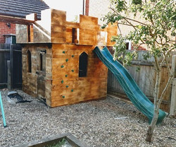 Castle style playhouse