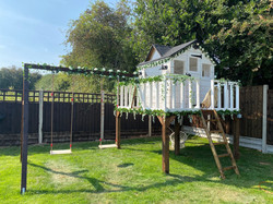 Decorated Black and White Playhouse