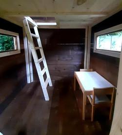 Two floor playhouse, inside