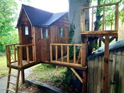 Playhouse with raised balcony