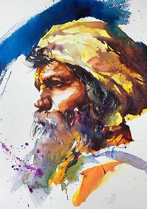 """""""Distant Stare"""" Watercolour A3 (30x42cm)"""