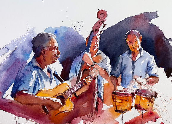 Musical Group Watercolour A3 (30x42cm)