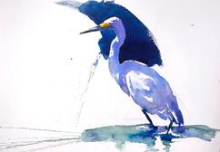 Stepping Egret
