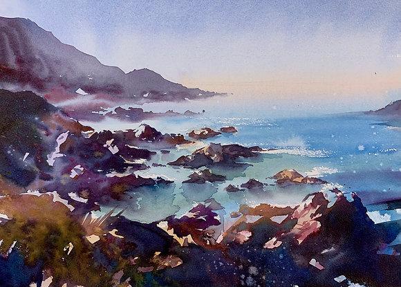 """""""Colourful Coast"""" Watercolour A3 (30x42cm)"""