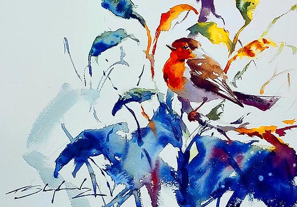 """""""Robin"""" Watercolour A3 (30x42cm)"""