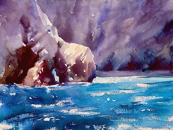 """Pembrokeshire Coast"" Watercolour A3 (30x42cm)"