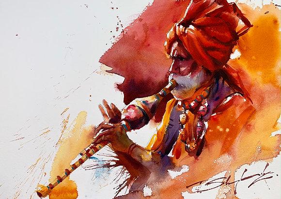 """""""Orange Notes"""" Watercolour A3 (30x42cm)"""