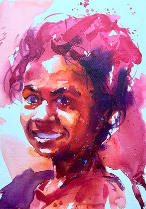 """Girl"" , Watercolour 10x14"