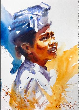 """""""Sunlit Expression"""" Watercolour A3 (30x42cm)"""