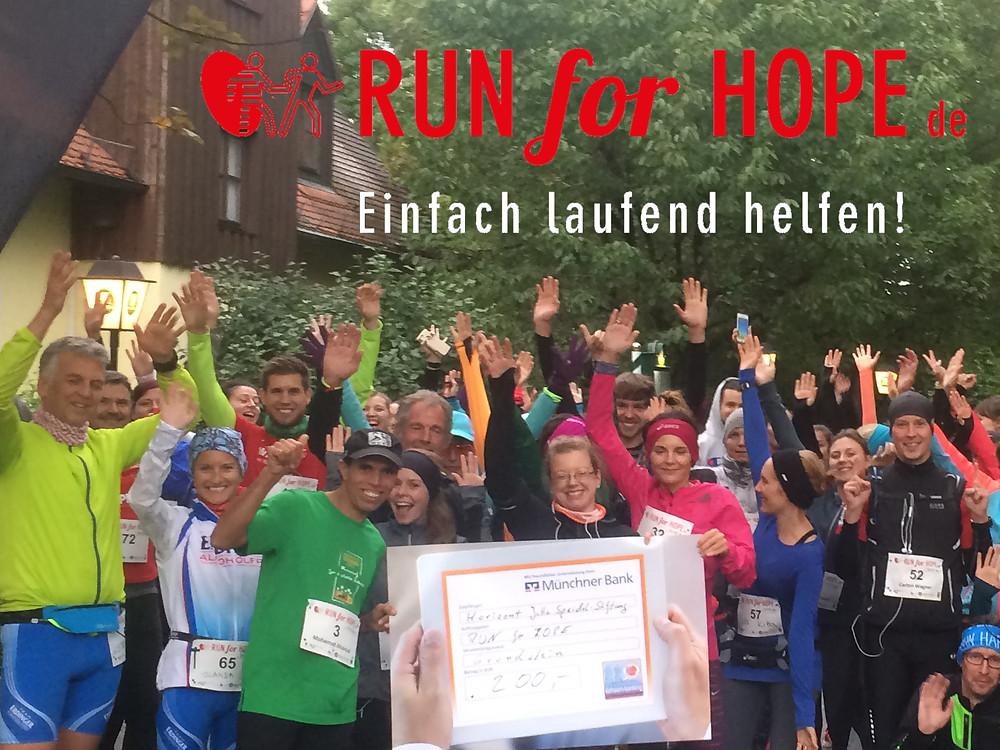 Begeisterung am Start beim RUN for HOPE - einfach laufend helfen by Laufcoaches.com