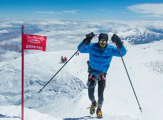 Ziel auf dem höchsten Gipfel Europas
