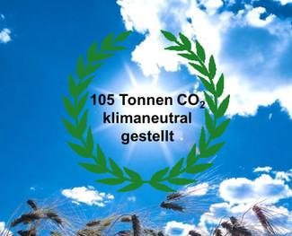 Grünes Dankeschön für 105 Tonnen CO2