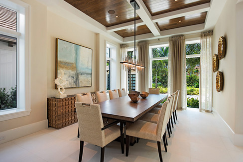 Port Royal Naples Florida Custom Abstract. Interior Design by Ficarra Design.