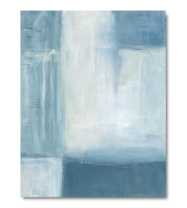 Abstract Blue I vertical giclée print