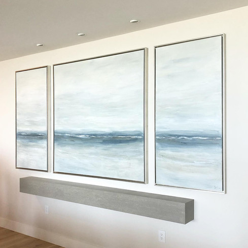Large Custom Triptych, 10.5 feet, Kalea Bay