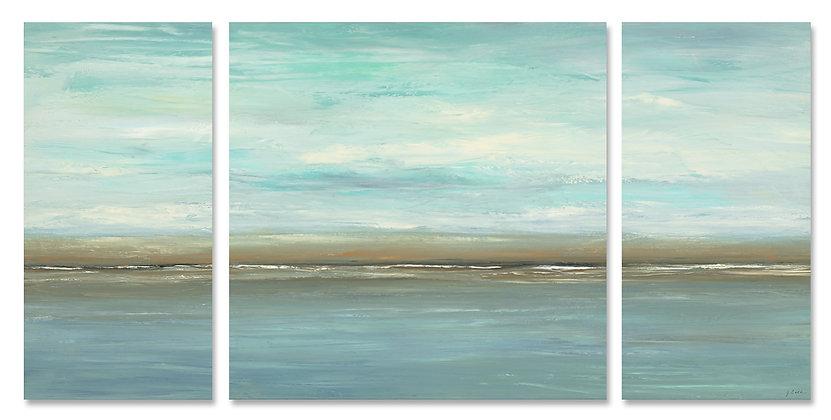 Blue Skies Triptych giclée print