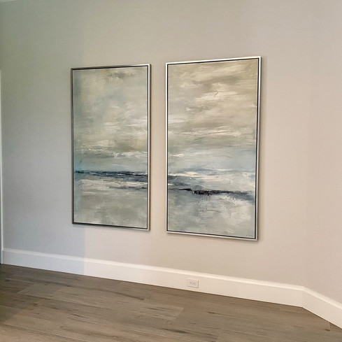 Abstract Diptych Quiet Moments