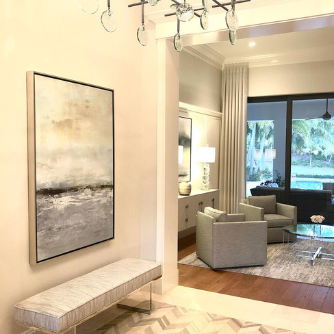 Whispering Sea Painting. Room designed by Cardaom Design
