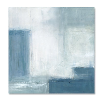 Blue Abstract II square giclée print