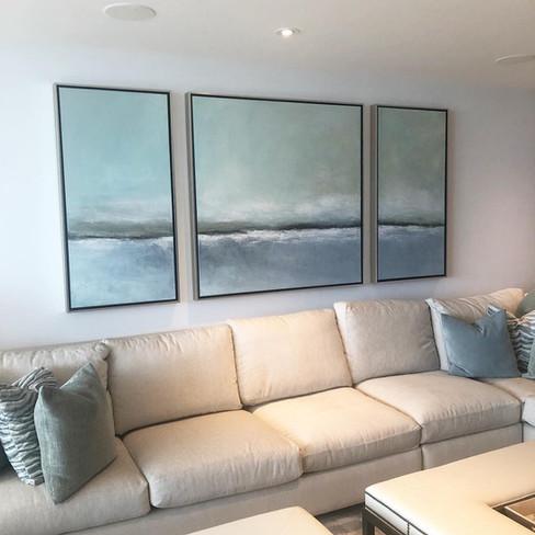 Large Custom Seascape Painting, Miami Fl