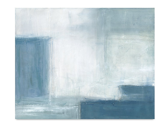 Abstract Blue II horizontal giclée print