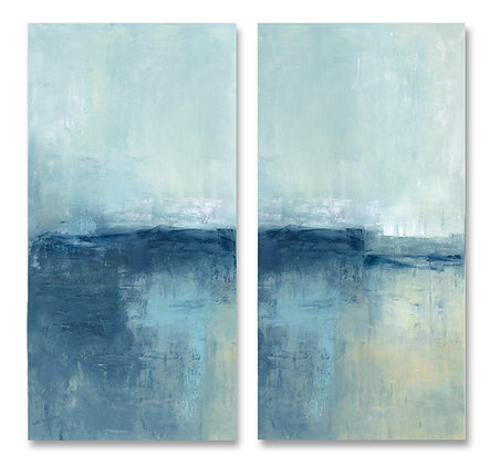 Into the Blue Diptych giclée print