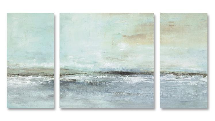 Whispering Sea Triptych giclée print