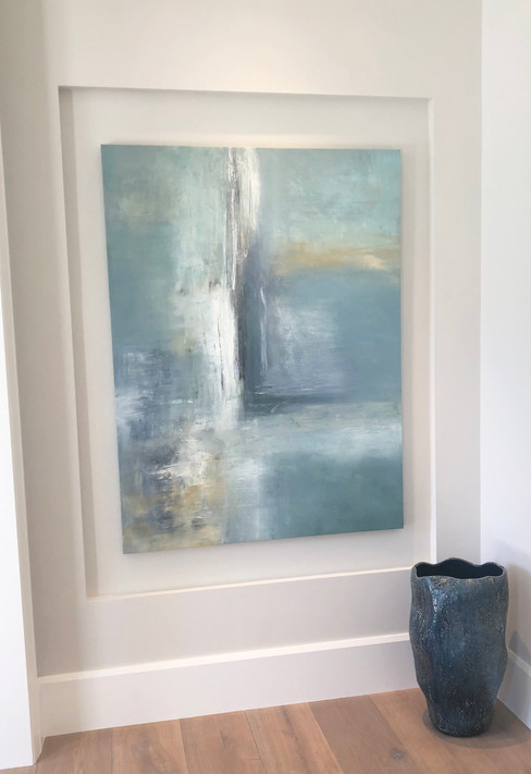 Blue Contemporary Abstract Painting