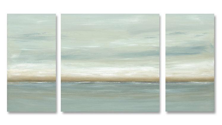 Cloud Break II Triptych giclée print