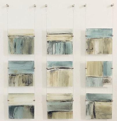 9 piece on plexi-glass
