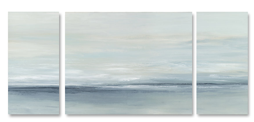 Ocean Mist Triptych giclée print
