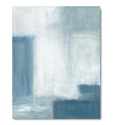 Abstract Blue II vertical giclée print
