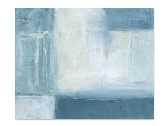 Abstract Blue I horizontal giclée print