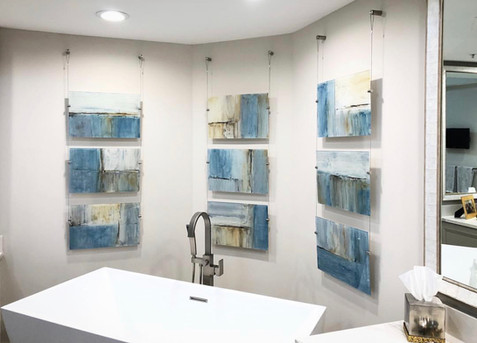 Custom Blue Abstract on Acrylic Panels C