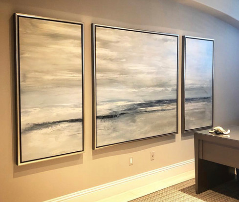 Large Triptych Giclee print on Canvas