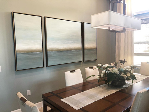 Large Custom Seascape Triptych Painting