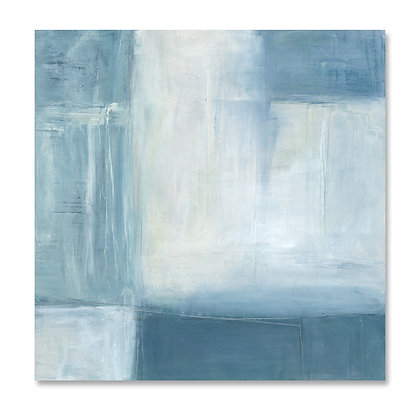 Blue Abstract I square giclée print