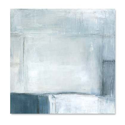 Navy Abstract I square giclée print