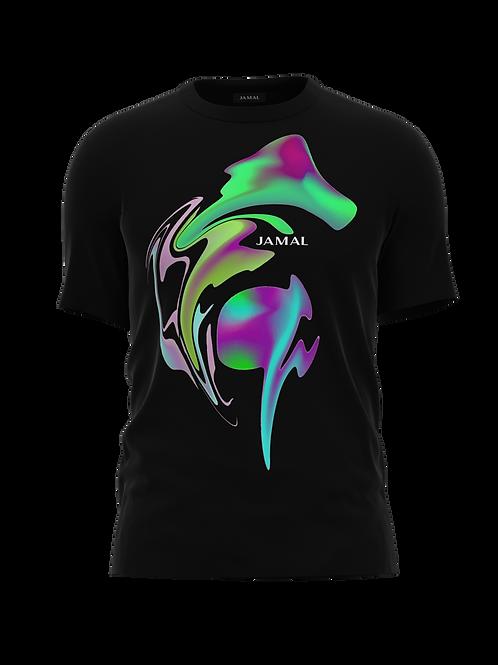 Alien Swirl Black Tee Shirt