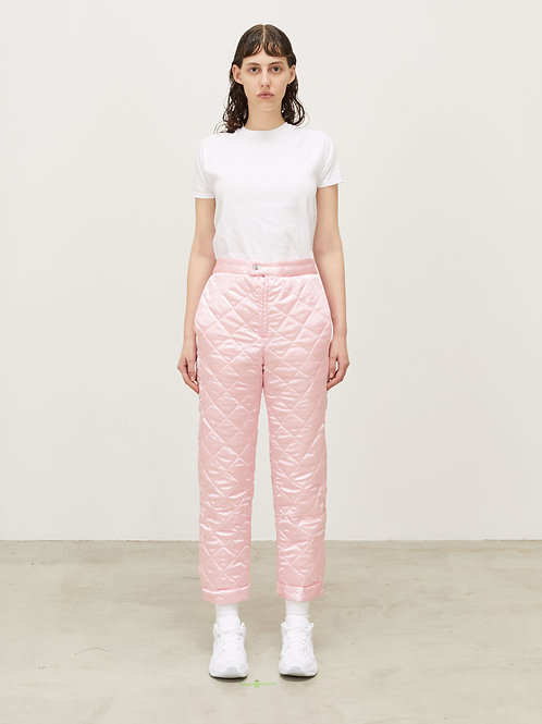 WOMENS QUILTED TRACK PANT WITH SNAP CUFF