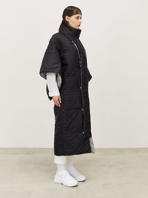 REVERSIBLE LONG QUILTED KIMONO