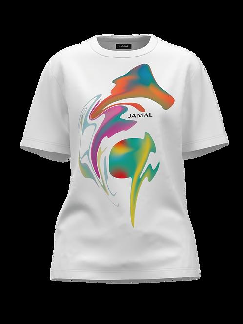 Alien Swirl White Tee Shirt